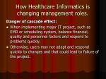 how healthcare informatics is changing management roles11