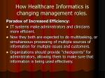 how healthcare informatics is changing management roles14