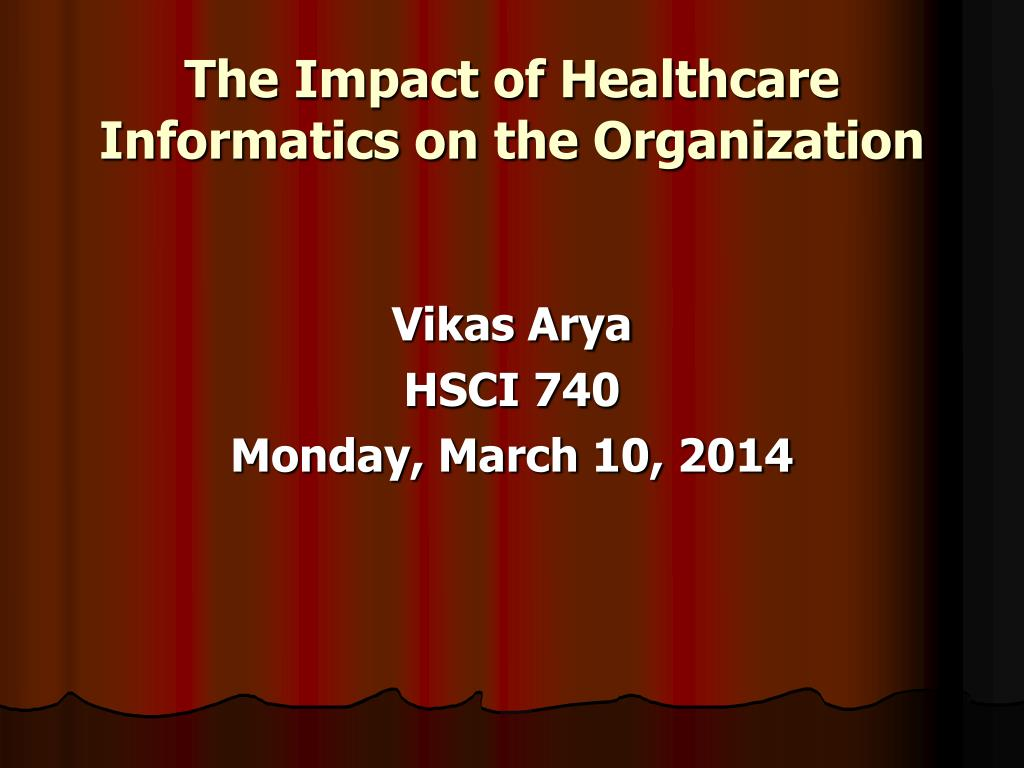 The Impact of Healthcare Informatics on the Organization