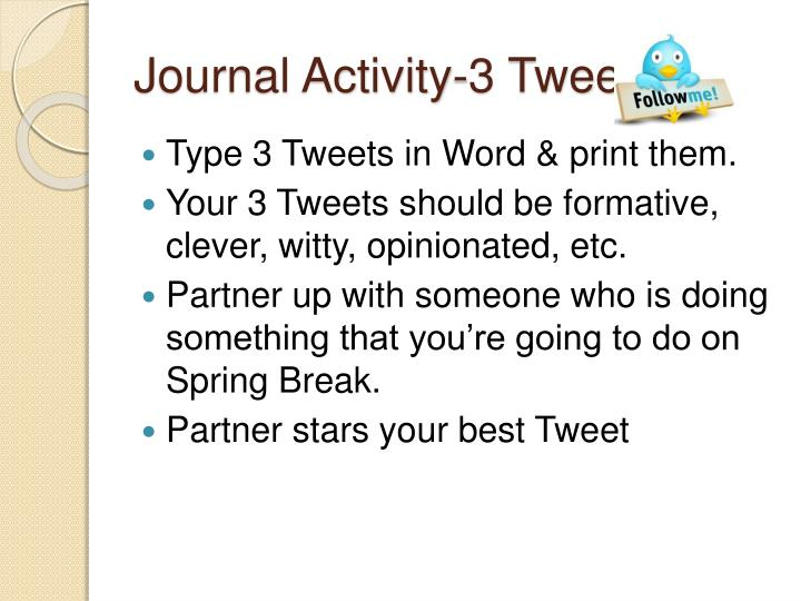 Journal Activity-3 Tweets