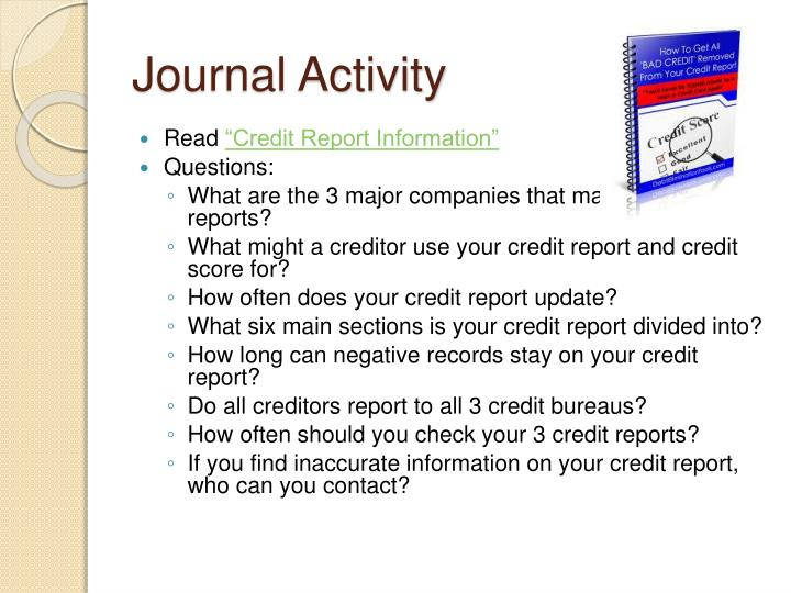 Journal Activity