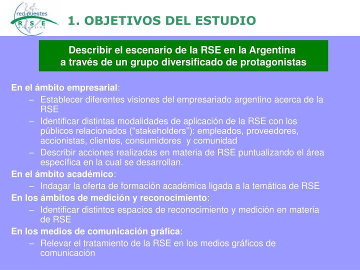 1. OBJETIVOS DEL ESTUDIO