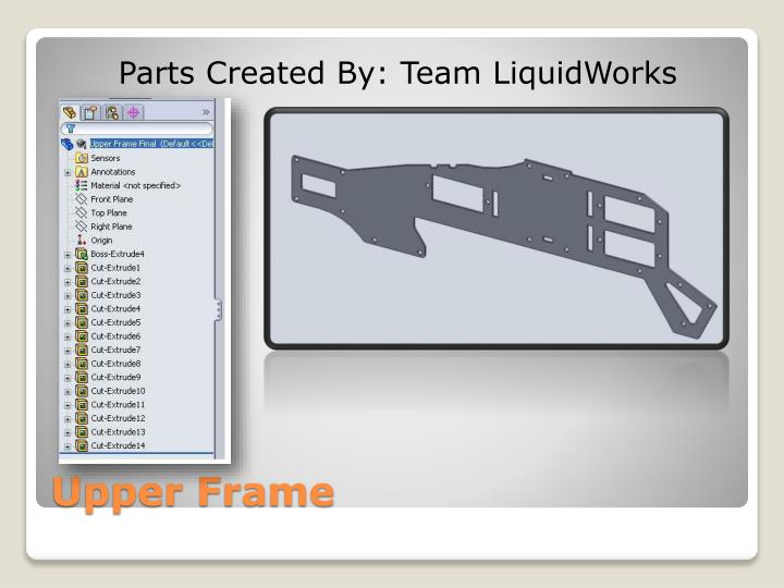 Parts Created By: Team LiquidWorks