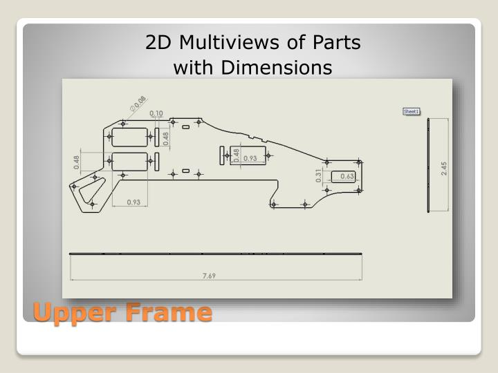 2D Multiviews of Parts