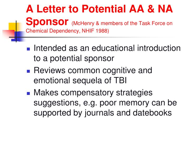 A Letter to Potential AA & NA Sponsor
