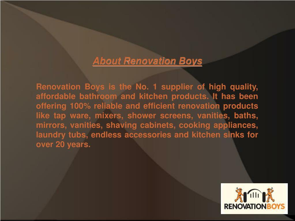 About Renovation Boys