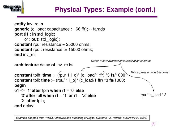 Physical Types: Example (cont.)