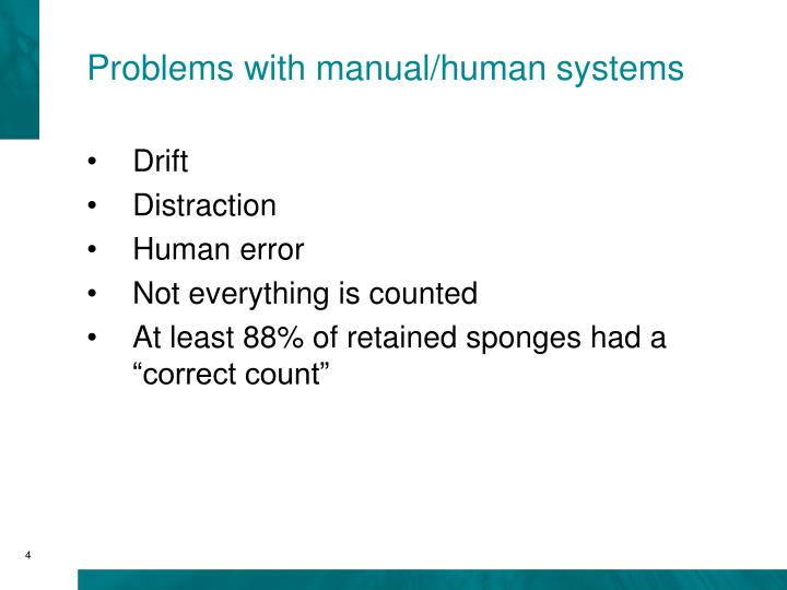 Problems with manual/human systems