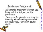 sentence fragment1
