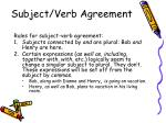 subject verb agreement1