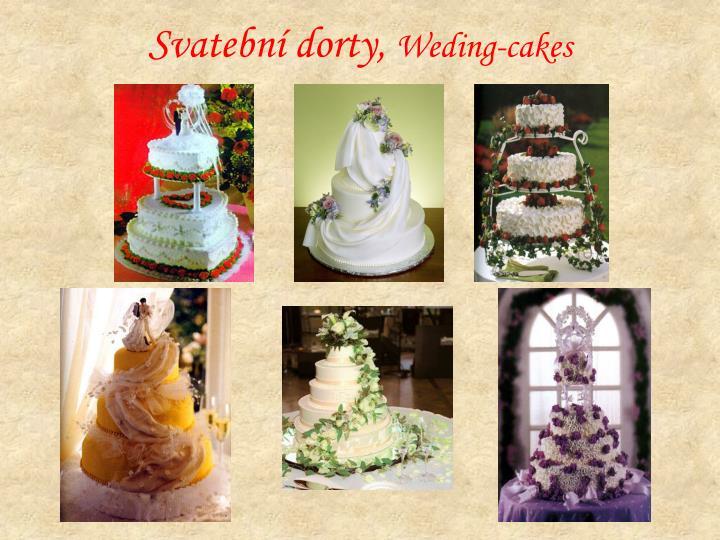 Svatební dorty,