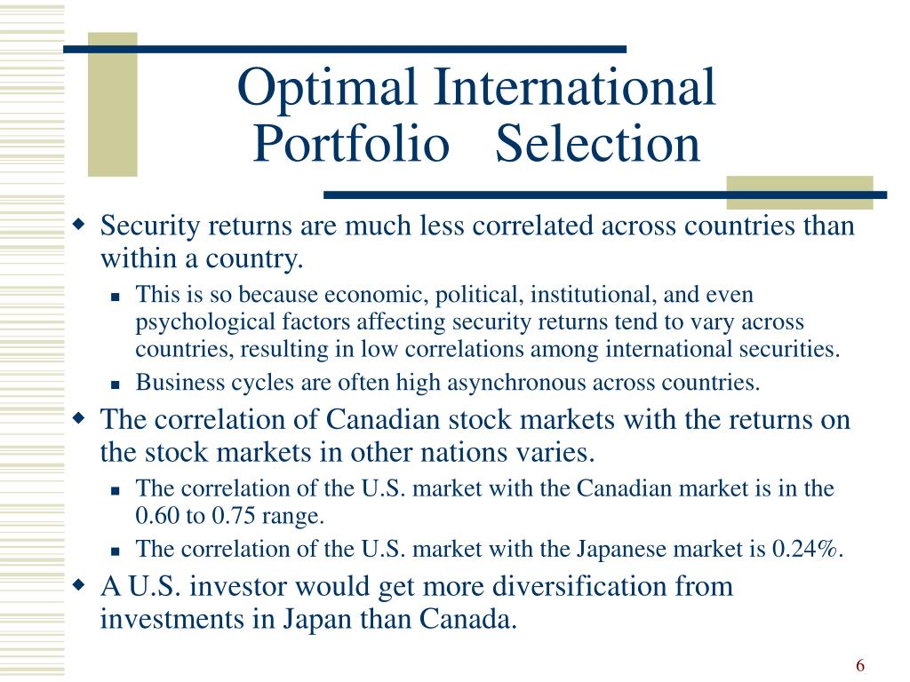 Optimal International