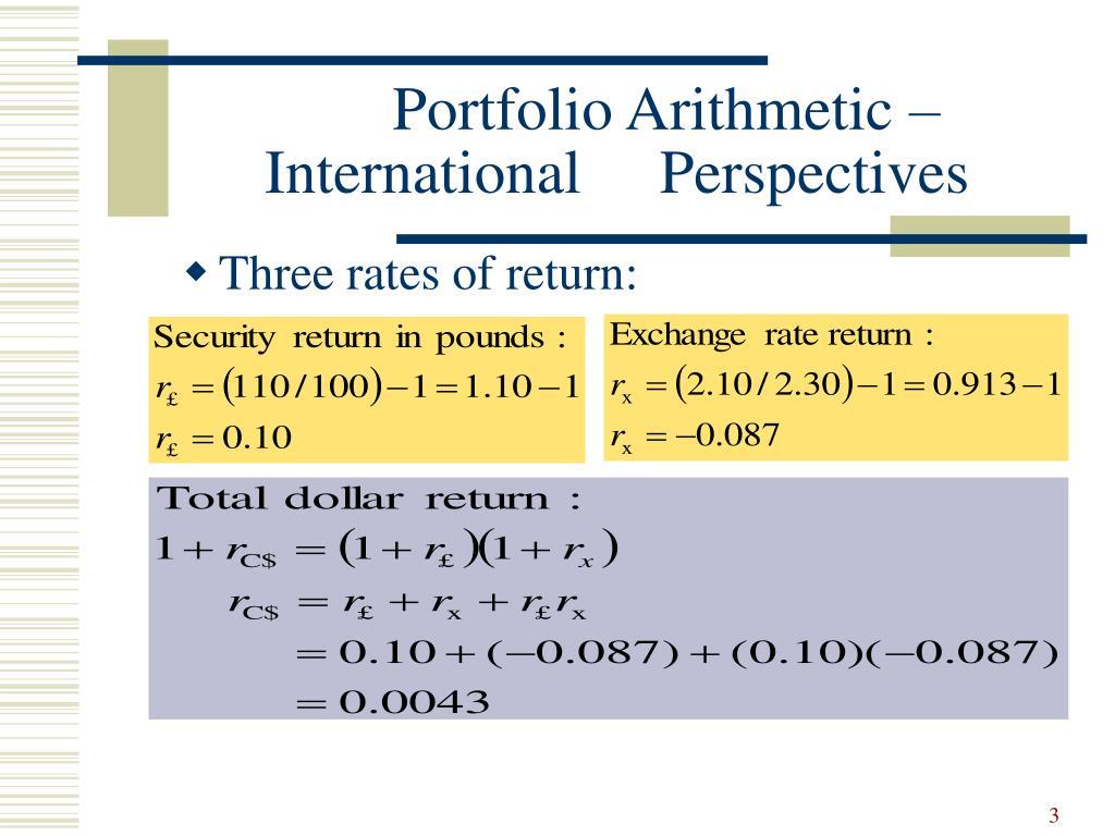 Three rates of return: