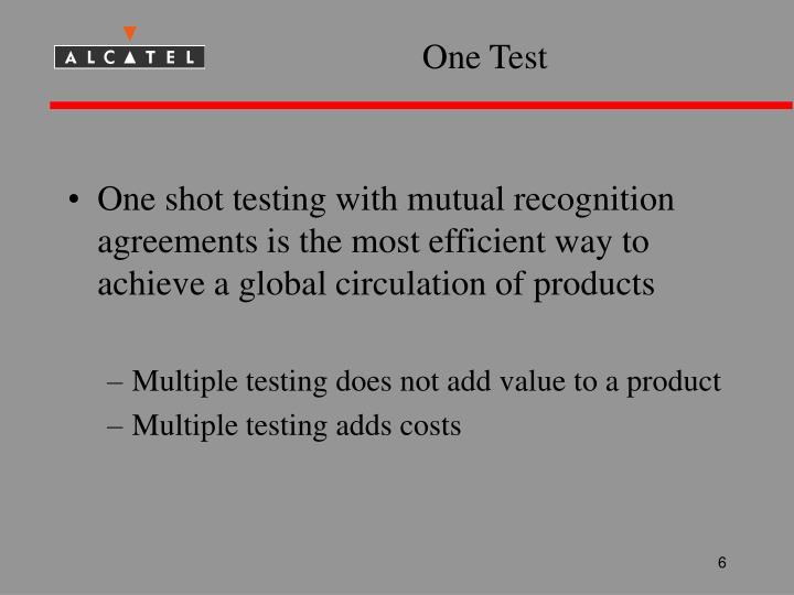 One Test