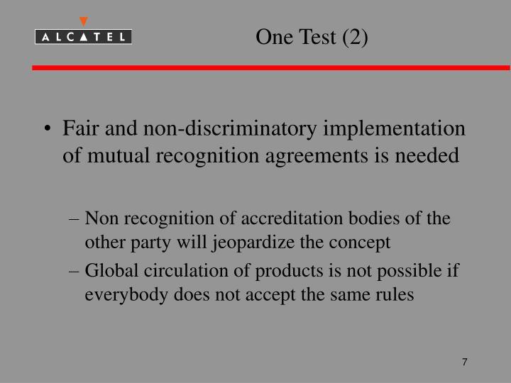 One Test (2)