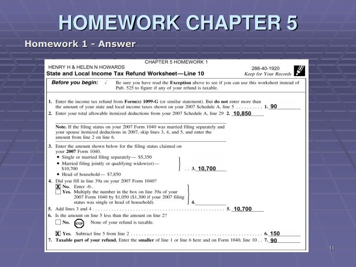 PPT Liberty Tax Service Online Basic Income Tax Course Lesson 6 – State and Local Income Tax Refund Worksheet