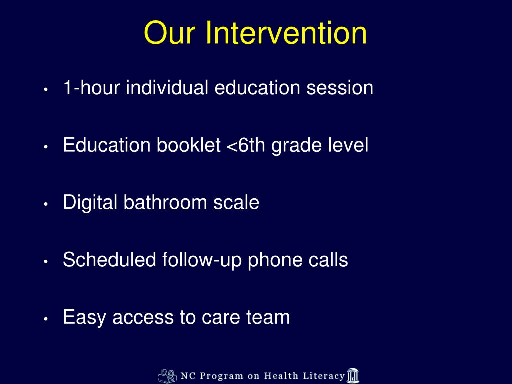 Our Intervention