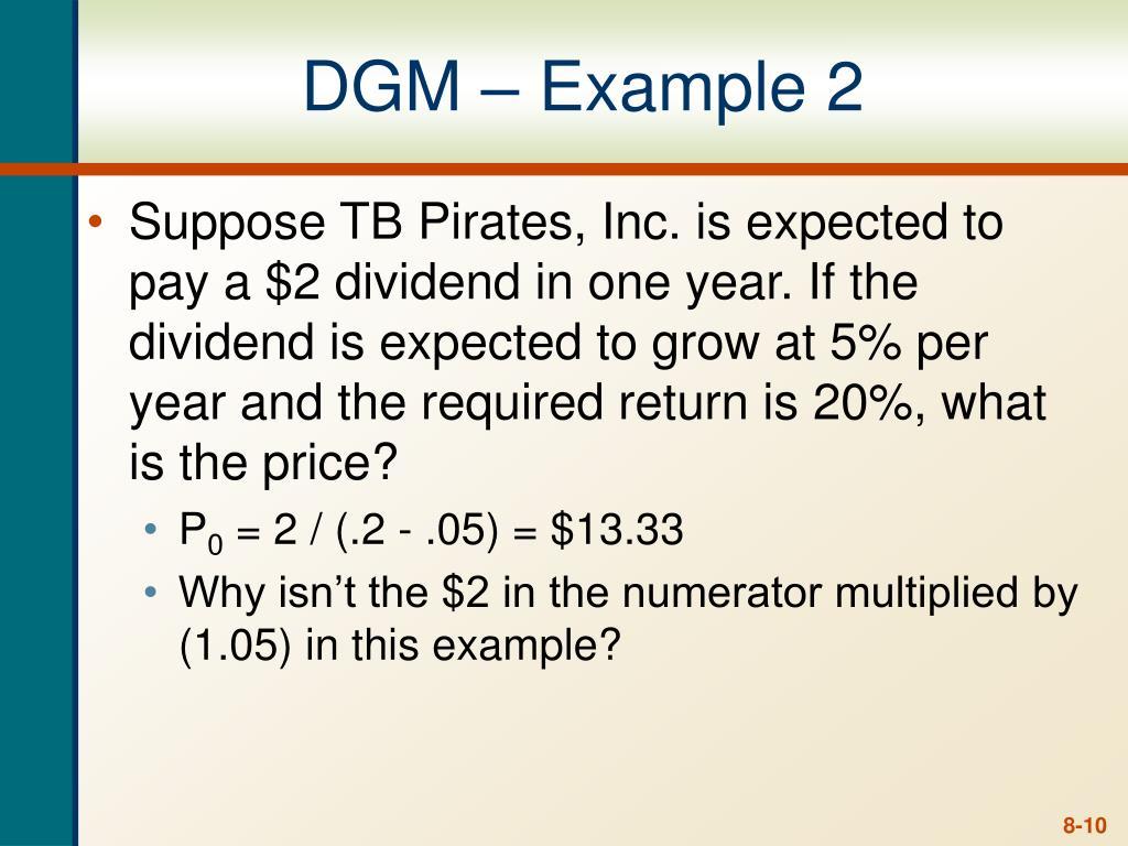 DGM – Example 2