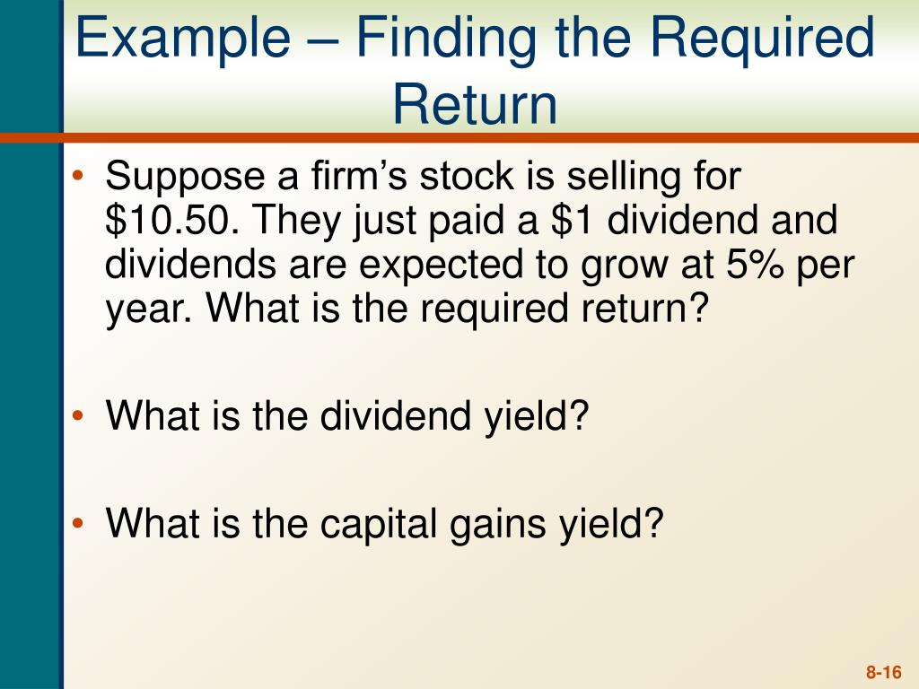 Example – Finding the Required Return