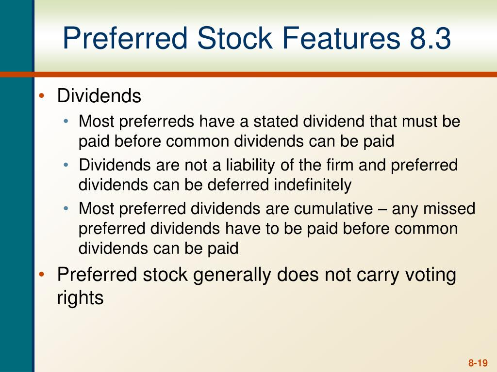 Preferred Stock Features 8.3