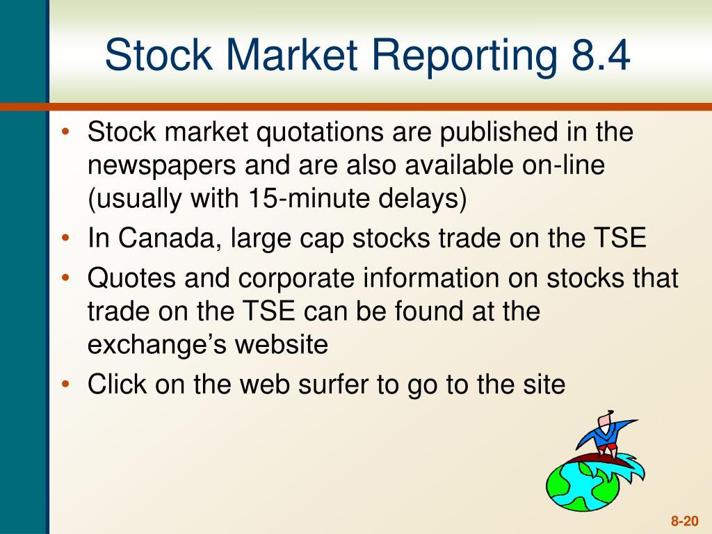 Stock Market Reporting 8.4