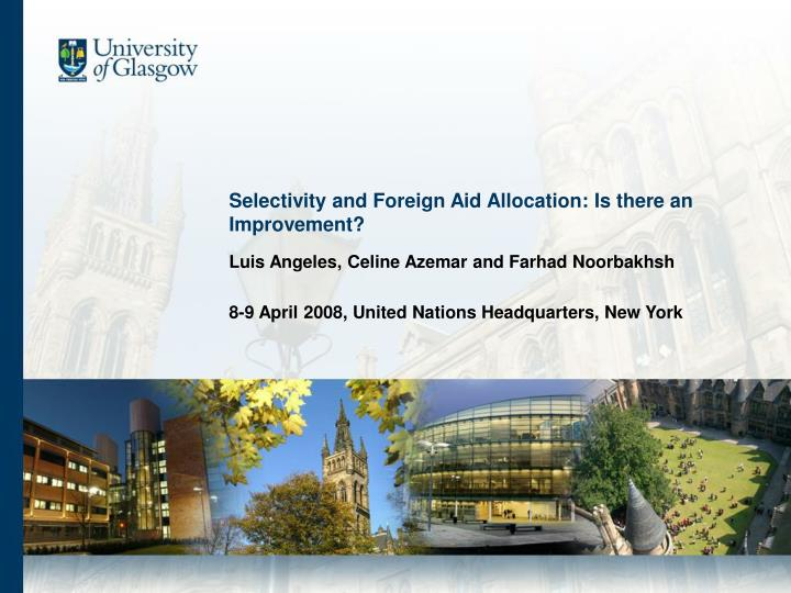 Selectivity and foreign aid allocation is there an improvement