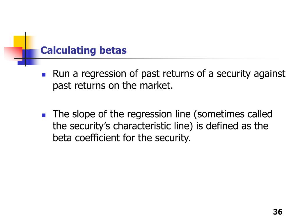 Calculating betas