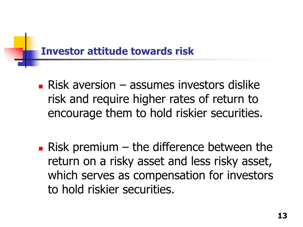 Investor attitude towards risk