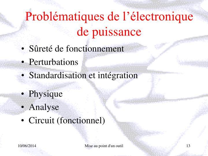 Problématiques de l'électronique de puissance