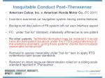 inequitable conduct post therasense