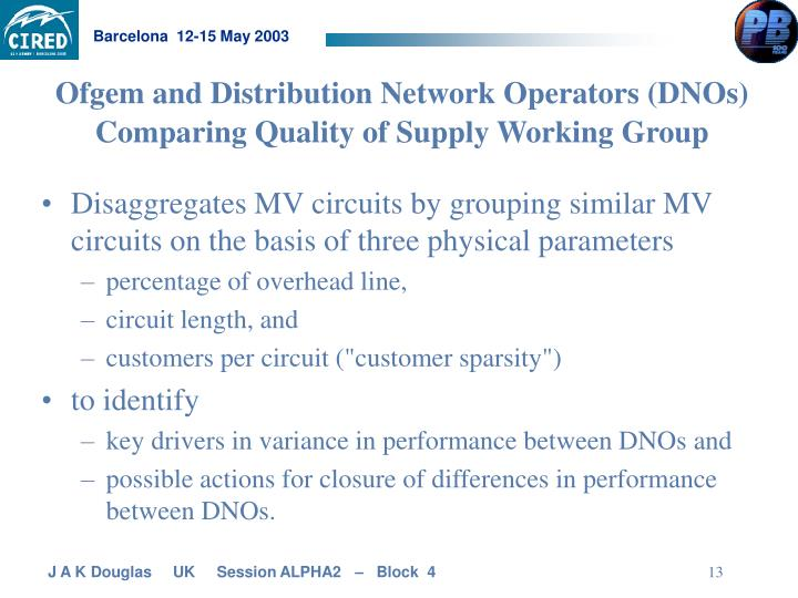 Ofgem and Distribution Network Operators (DNOs)