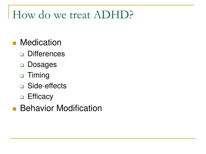 Ppt Adhd In The Classroom Diagnosis And Treatment