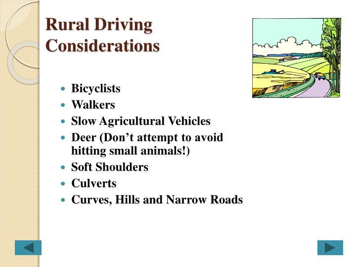 Rural Driving