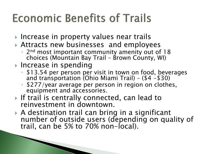 Economic Benefits of Trails