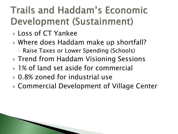 Trails and Haddam's Economic Development (Sustainment)