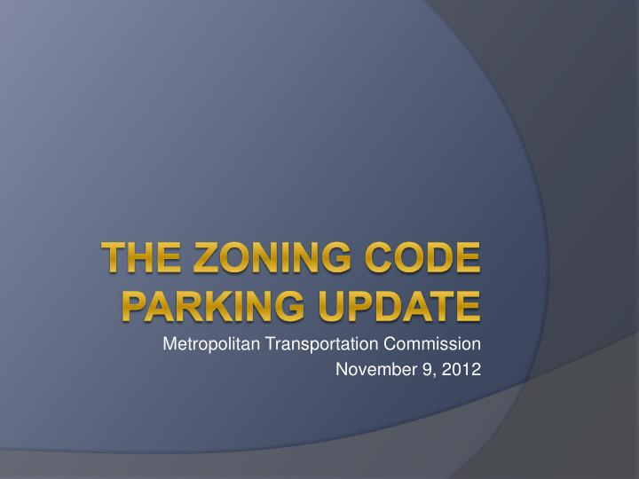 metropolitan transportation commission november 9 2012