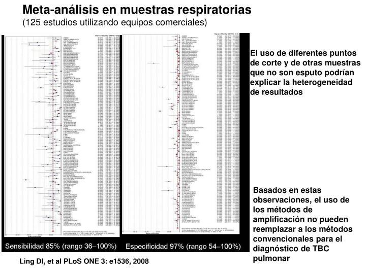 Meta-análisis en muestras respiratorias