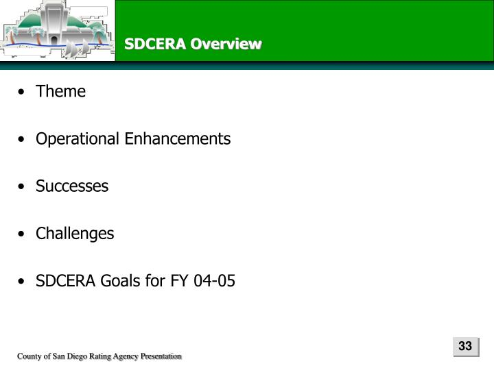 SDCERA Overview