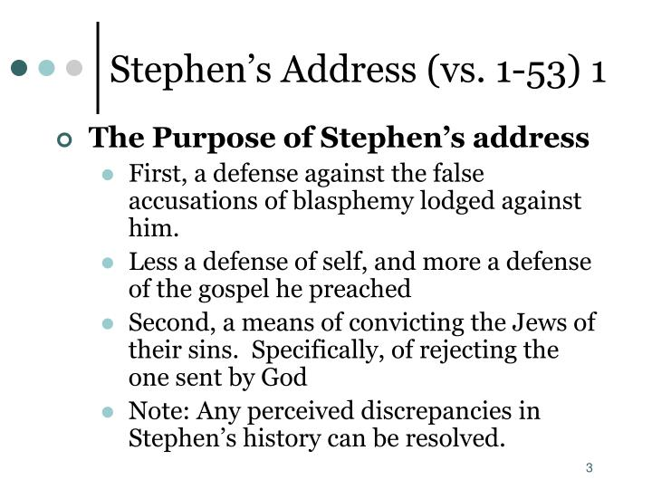 Stephen s address vs 1 53 1