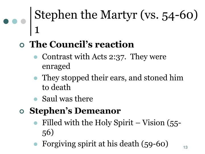 Stephen the Martyr (vs. 54-60) 1