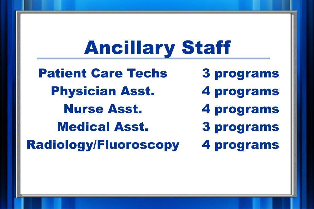 Ancillary Staff