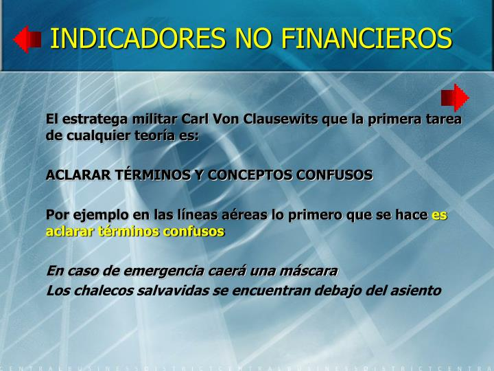 INDICADORES NO FINANCIEROS