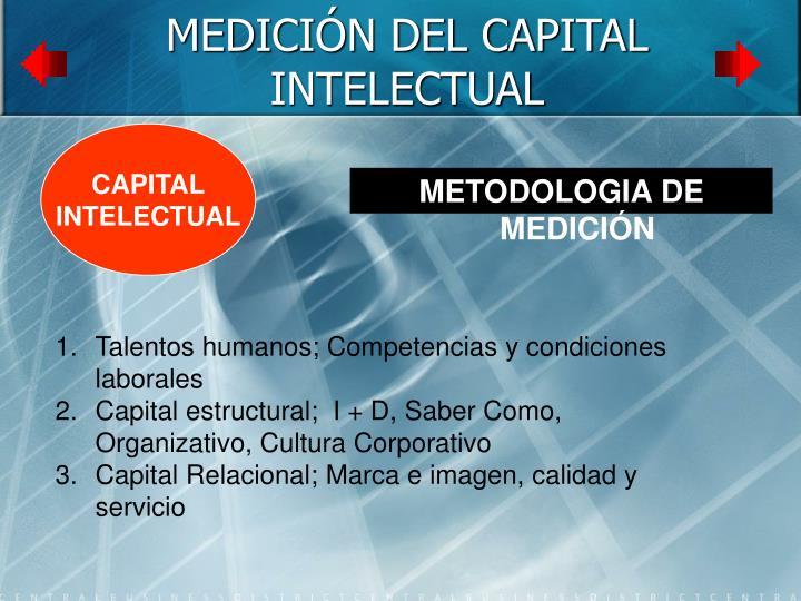 MEDICIÓN DEL CAPITAL INTELECTUAL