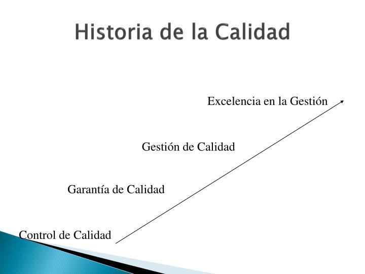 Historia de la Calidad