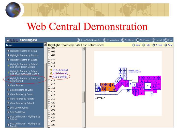 Web Central Demonstration
