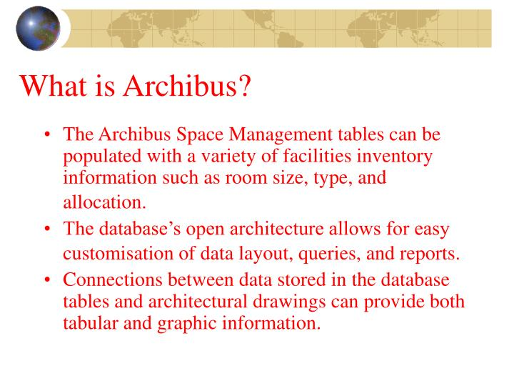What is Archibus?