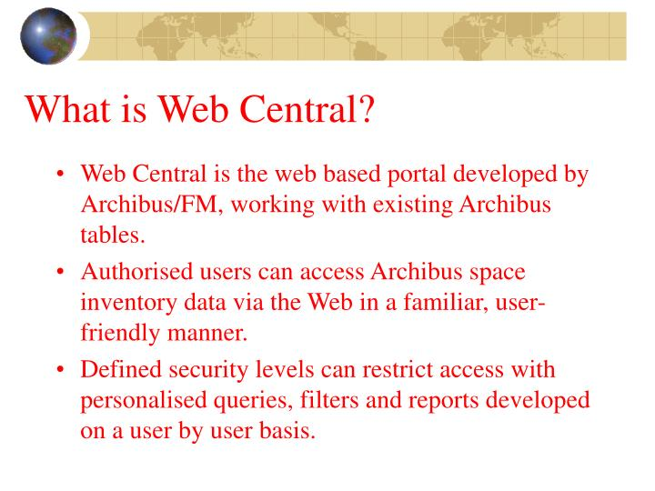 What is Web Central?