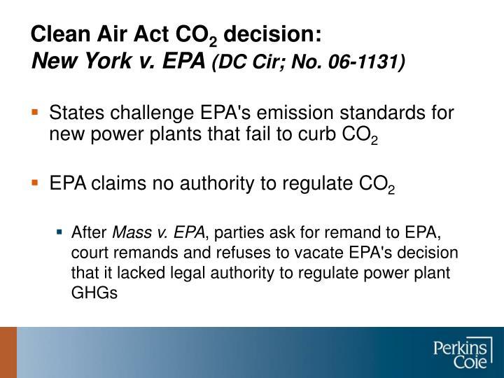 Clean Air Act CO