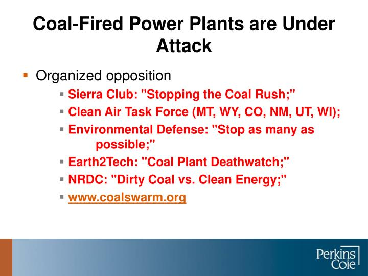 Coal-Fired Power Plants are Under Attack