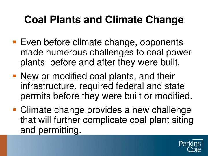 Coal plants and climate change